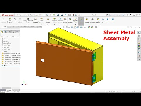 Electrical Enclosure in Solidworks sheet Metal