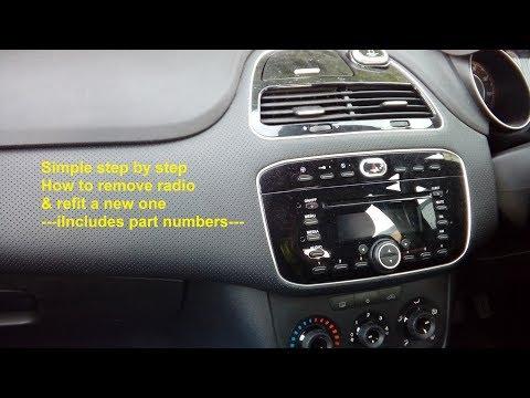 FIAT PUNTO EVO ABARTH F199FL RADIO CD MP3 PLAYER CAR STEREO CODE 2010 2011 2012