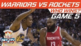 GS Warriors vs Houston Rockets | Game 5 | Who will win ? | Hoops N Brews