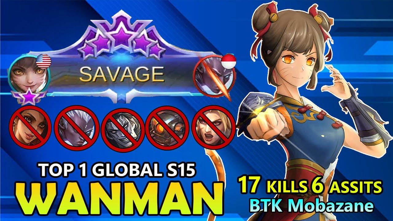 SAVAGE!!WANMAN BEST BUILD 2020 - TOP 1  GLOBAL WANMAN BTK Mobazane 2020