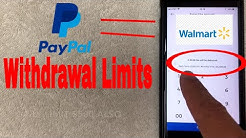 ✅  Withdraw Paypal Money At Walmart Limits ?