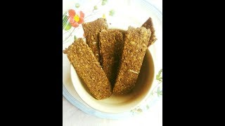Butterless Diabetes Friendly Flax Cracker Recipe: Oil-Free Tawa Chips