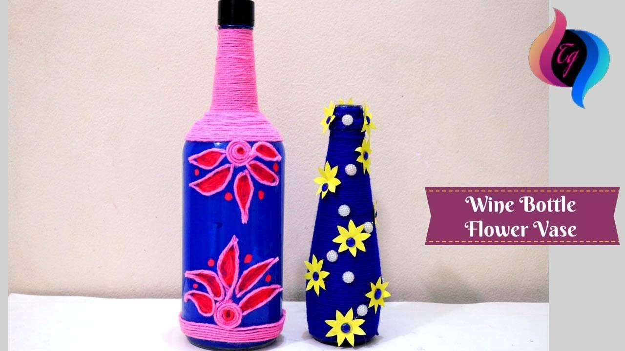 Wine bottle flower vase wine bottle vase diy empty wine bottle wine bottle flower vase wine bottle vase diy empty wine bottle decoration ideas floridaeventfo Gallery