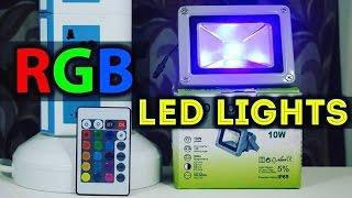 best budget rgb led flood lights setup