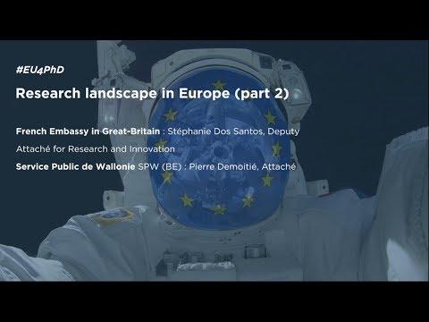 RESEARCH LANDSCAPE IN EUROPE (Part 2) #EU4PHD [Dec, 12th]
