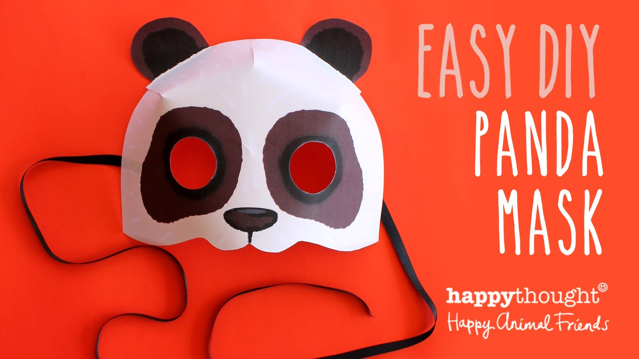Printable Panda Mask Template + Photo Tutorial!   YouTube  Free Mask Templates