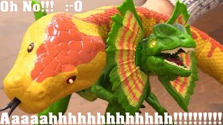Children's Toy Channel: A Snake and Dinosaur! Animal Planet's Ball Python Snake and Dinosaur Toys.
