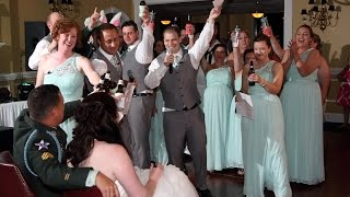 Amazing wedding party rap!