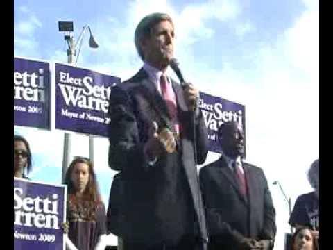 Senator John Kerry Endores Setti Warren for Newton Mayor