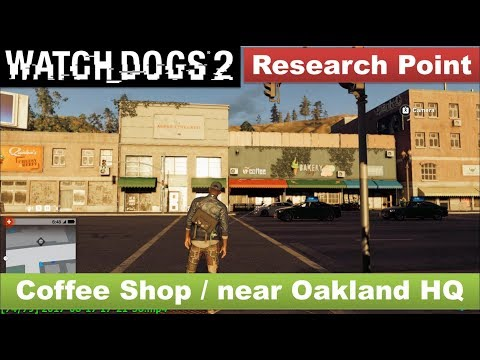 Watch Dogs 2 - Research Point / Over the Coffee Shop near Oakland HQ [Lakeside Park]