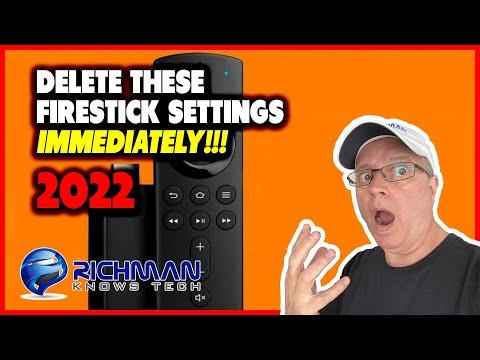 FIRESTICK SETTINGS YOU NEED TO TURN OFF IMMEDIATELY!!! 2021 UPDATE