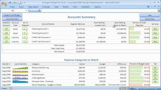 Budget Spreadsheet and Excel Checkbook Register for Personal Budgeting and Home Finances