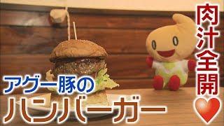 秋田市のハンバーガーショップ『Happy Time』。アグー豚と玉ねぎオンリ...