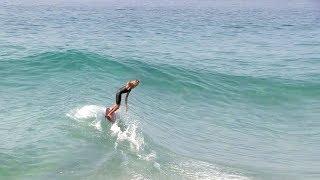 Skimming into small PERFECT waves w/ Skimboard & Bodyboard - Blair Conklin & Friends