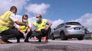 Selenggara jalan persekutuan di seluruh Johor