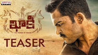 khakee the power of police official teaser khakee telugu movie karthi rakulpreet ghibran