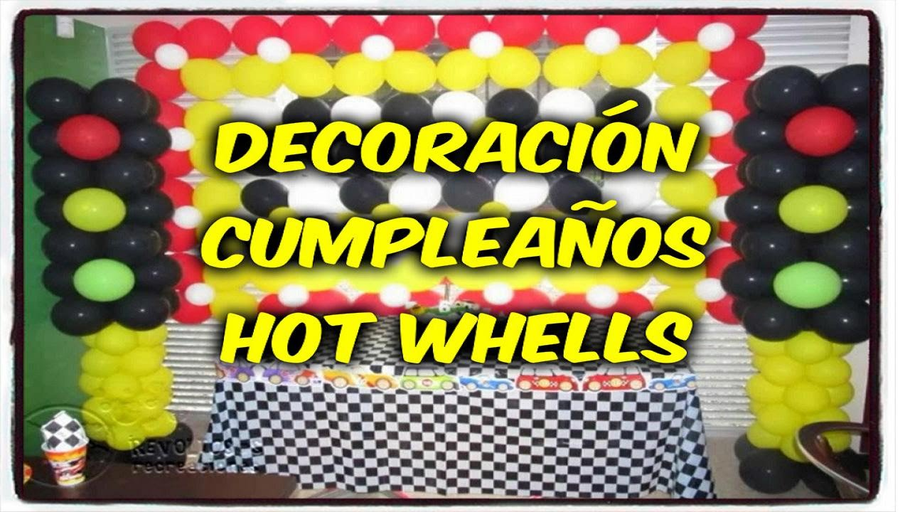 decoracion cumpleaos hot wheels