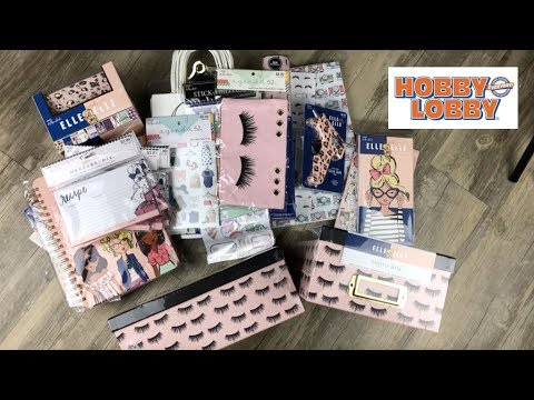 GIRLY STATIONERY HAUL| HOBBY LOBBY ELLE OH ELLE LINE