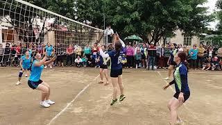 bóng chuyền nữ xinh đẹp_giải bóng chuyền thôn 20/10/2017_trận đấu 2