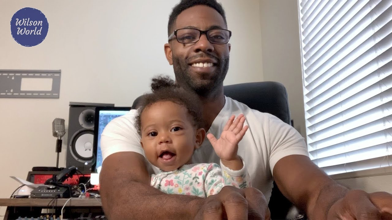 When her dad plays her song, this baby has the best reaction ever!