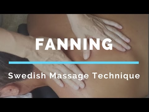 Swedish Massage Technique | Fanning with Thumbs - Massage Monday #350