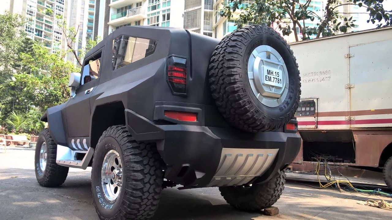 hummer modified on thar