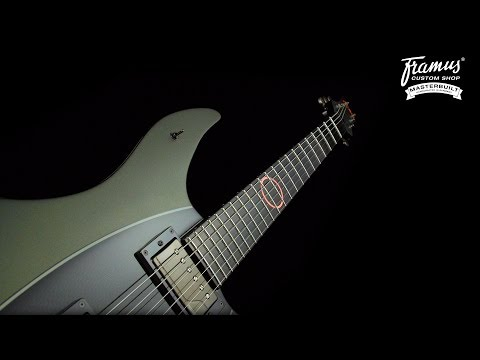 Framus Custom Shop Masterbuilt - Stormbender/Devin Townsend Signature - Olive Wings #17-3725