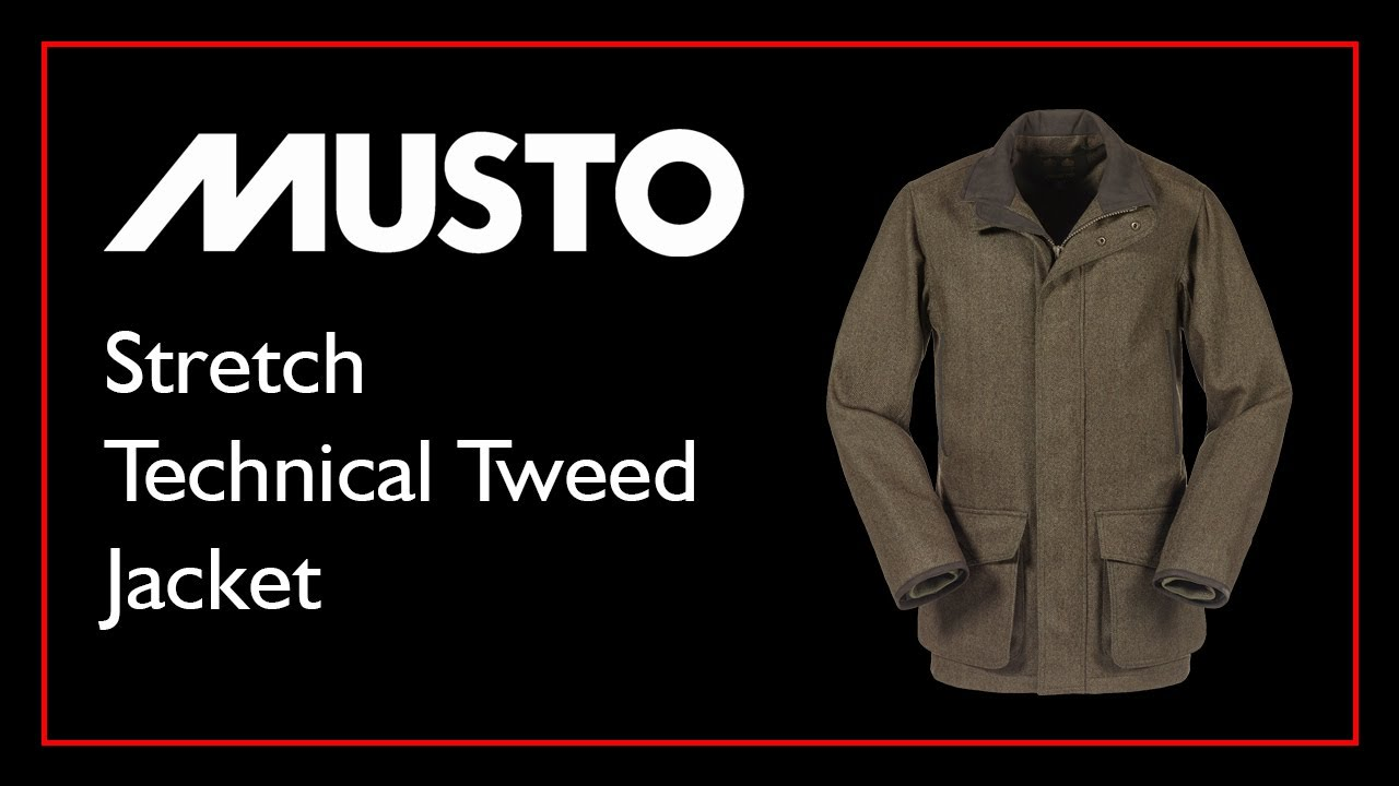 Musto Mens Stretch Technical GORE TEX Tweed Jacket