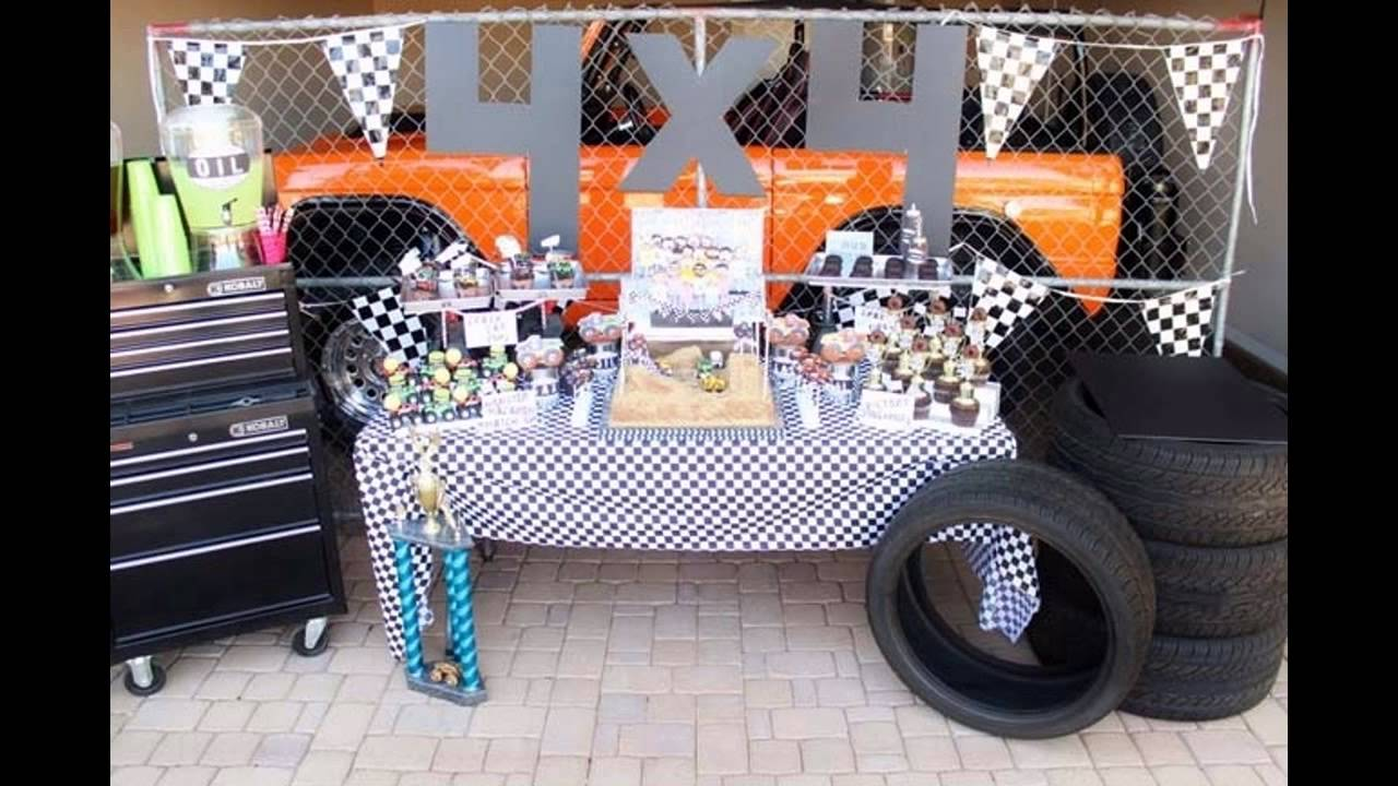 Awesome Monster truck birthday party ideas - YouTube