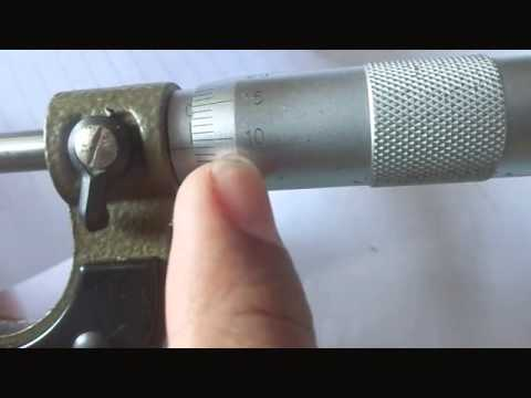 Physics Experiment How to Measure an Object Using Micrometer