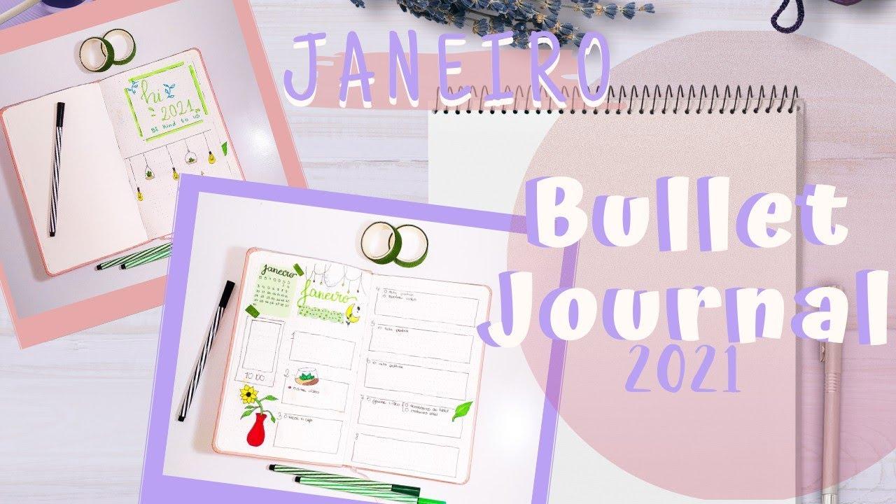 COMEÇANDO MEU BULLET JOURNAL 2021   Fazendo adesivos e ...