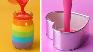 Most Satisfying Rainbow Cake Decorating Compilation 🌈 DIY Cake Hack | Perfect Cake By So Tasty