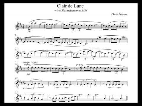 Clair De Lune Play Clarinet Youtube