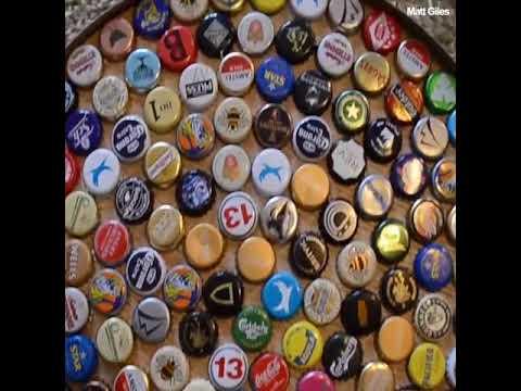 Beer Bottle Cap Table.