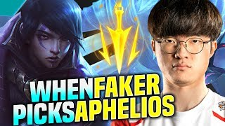 FAKER IS SO GOOD WITH APHELIOS! - SKT T1 Faker Plays Aphelios vs Senna ADC! | Season 2020 KR SoloQ