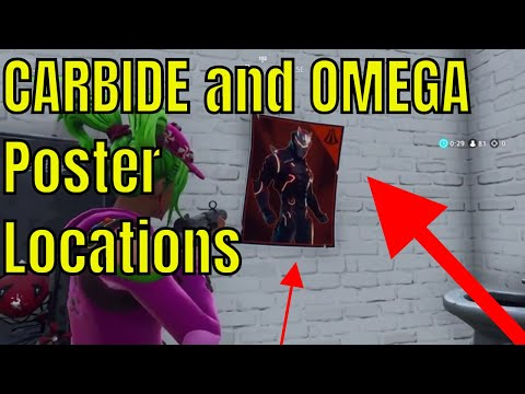 All Carbide And Omega Posters Locations WEEK 6 Fortnite Season 4 Challenges