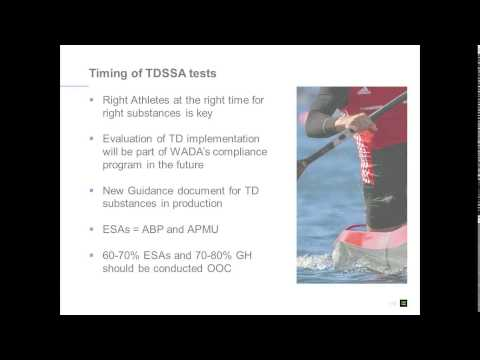 WADA Webinar - Technical Document for Sport Specific Analysis (TDSSA) for NADOs and RADOs