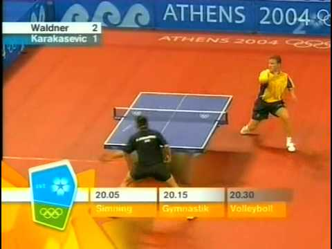 2004 Olympics - Athens (ms-R32)  Waldner Jan-Ove Vs Karakasevic Alexander [Full* Match]