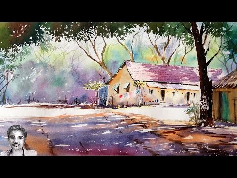 Watercolor Landscape Painting for Beginners | How to Draw HOuse