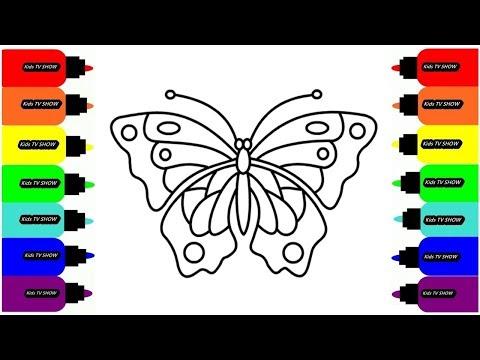 Бабочка Рисуем Раскраски для малышей