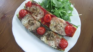 How to Make Healthy Courgette (Zucchini) Pizza Boats | UK Dietitian Nichola Whitehead