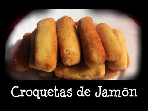 CROQUETAS DE JAMÓN SERRANO-cocina española-EXPRESS - YouTube  CROQUETAS DE JA...
