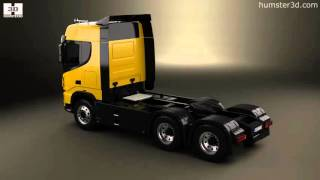 Dongfeng KX Tractor Truck 2014 3D model by Humster3D.com