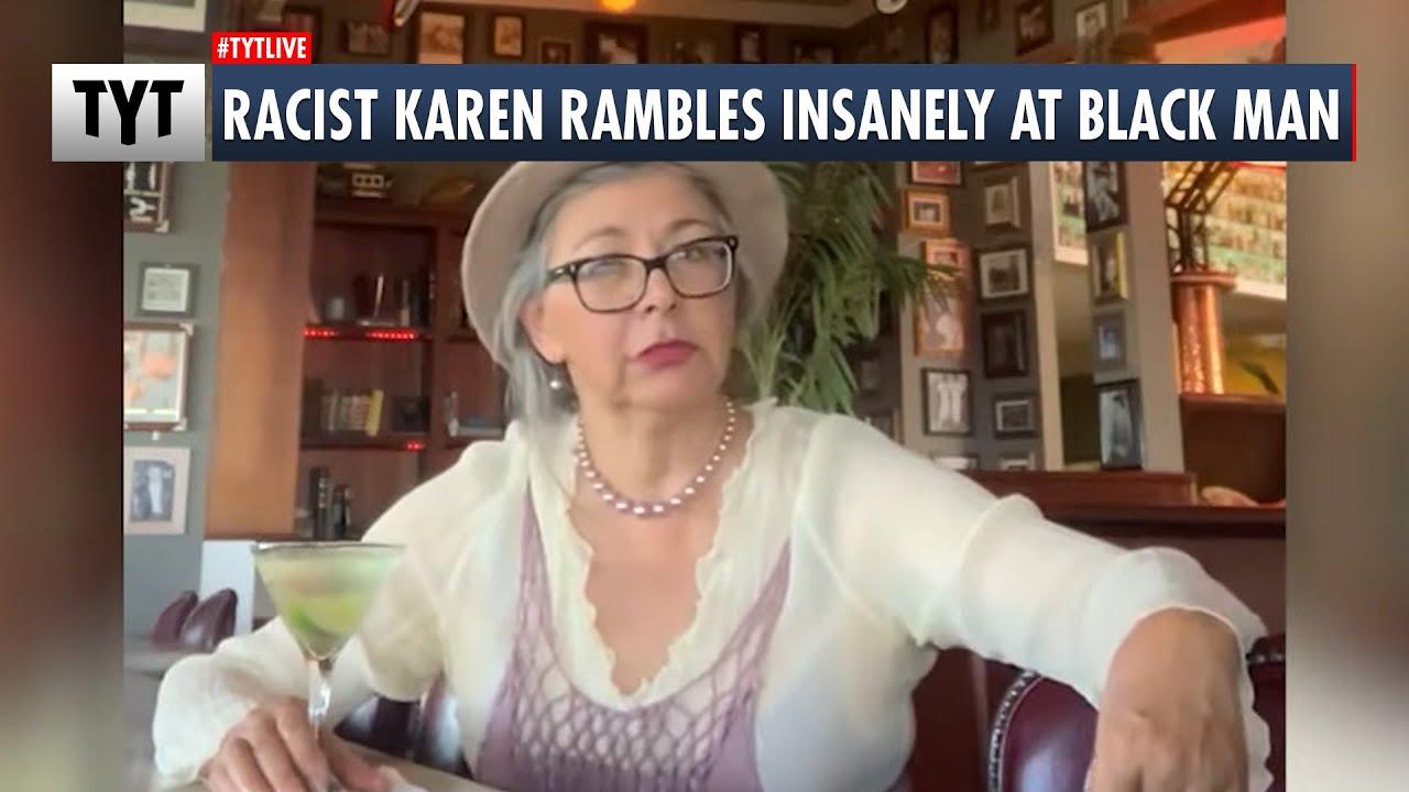 Racist Karen Rambles Insanely at Black Man