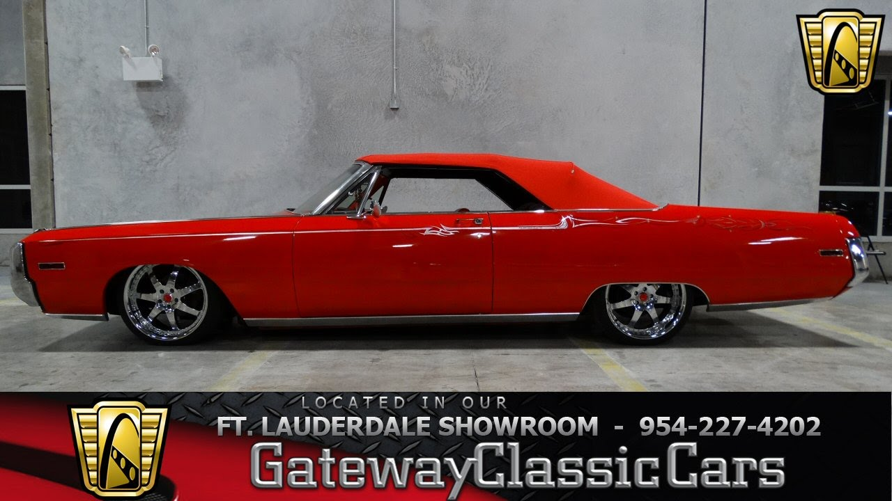1970 chrysler 300 convertible gateway classic cars of fort lauderdale 39 youtube. Black Bedroom Furniture Sets. Home Design Ideas