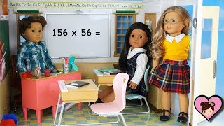Doll School Playset with Classroom, Lockers and Cafeteria for American Girl Dolls