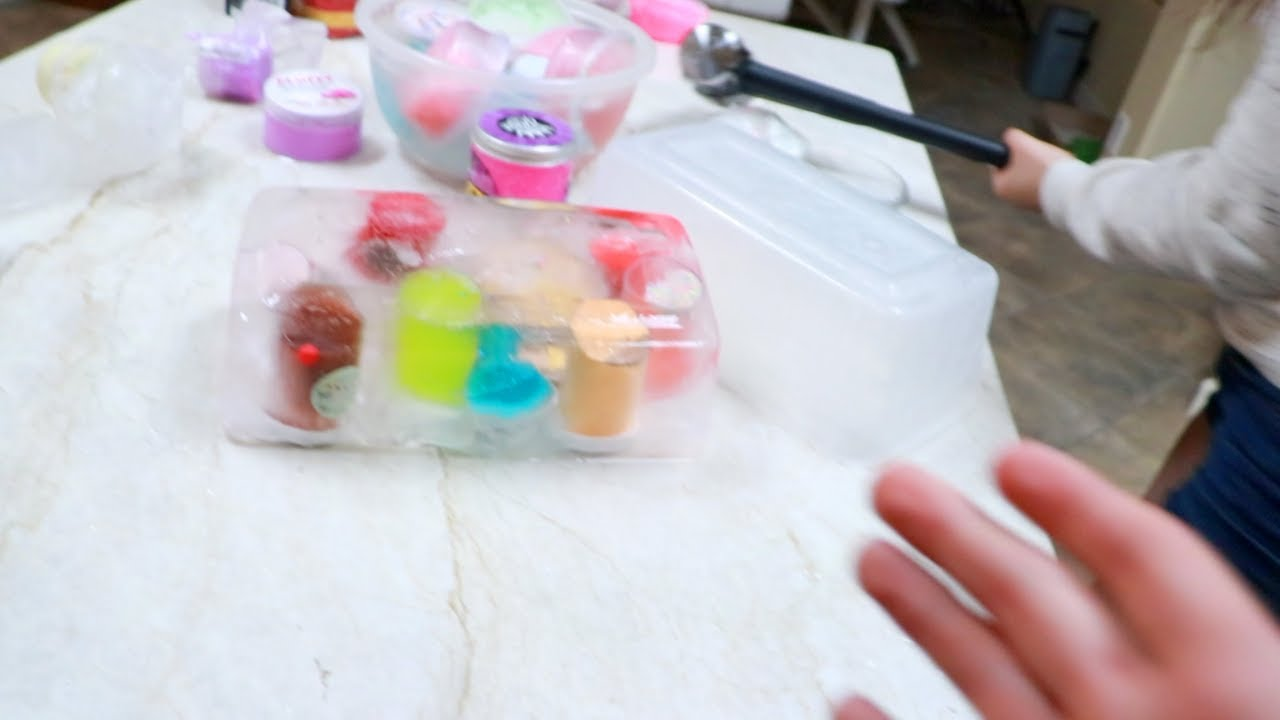 i-froze-all-her-favorite-slime-in-ice-prank