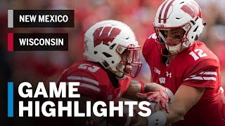 Highlights: New Mexico Lobos vs. Wisconsin Badgers | Big Ten Football