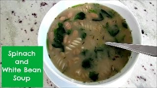 Spinach and White Bean Soup Recipe  Vegan
