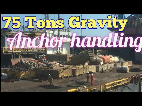 75 Tons Gravity Anchor Handling